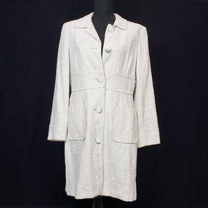 Nine & Company long white Brocade jacket size 10